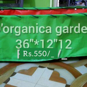 Rectangular grow bag with stand